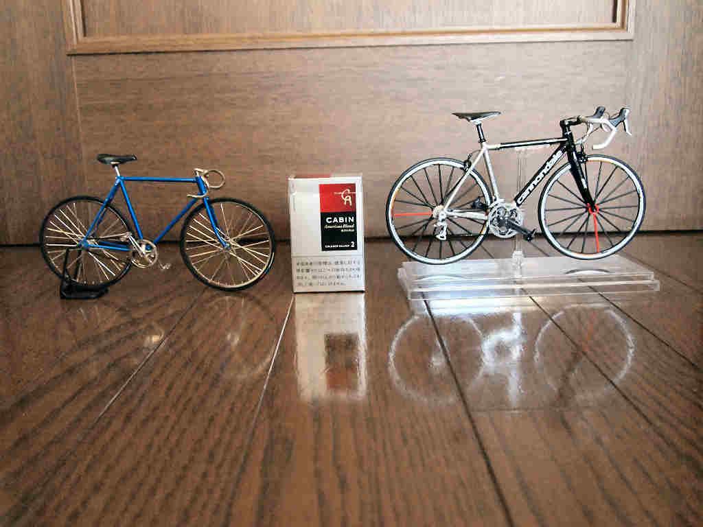ロードバイクのミニチュア模型